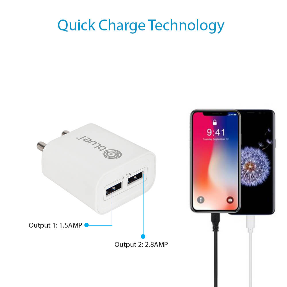 CH-03 2.8 Amp Mobile Charger with 2 USB Port
