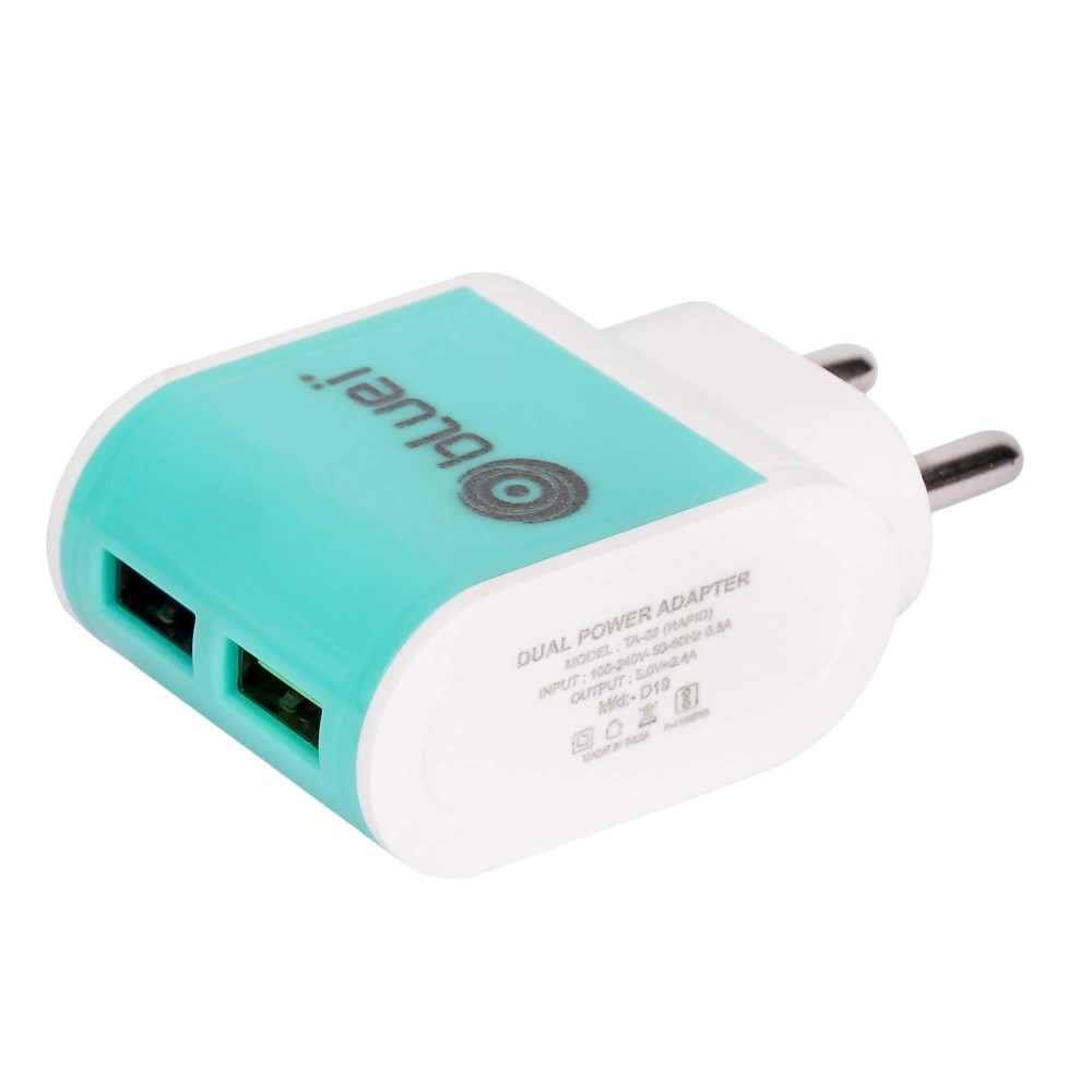 TA-02 Rapid 2.4 Amp Mobile Charger with 2 USB Port